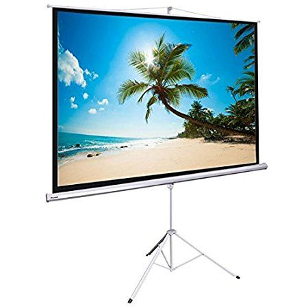120 Quot Instahibit Manual 4 3 Floor Stand Presenter Movie Projector Screen W Tripod White Movie Projector Screen Projector Screen Movie Projector