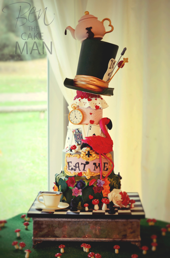 Mad Hatter S Tea Party Wedding Cake