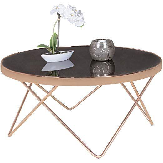 Finebuy Couchtisch Fb45659 Glas O 82 Cm Metall Wohnzimmertisch Modern Glastisch Rund Sofatisch Wohnzimmer Schwarz M Wohnzimmertisch Metalltische Sofa Tisch