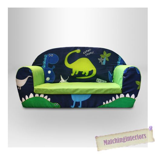 Dinosaurs Dino Kids Children S Double Foam Sofa Toddlers Seat Nursery Boys Green In Home Furniture Diy Ebay