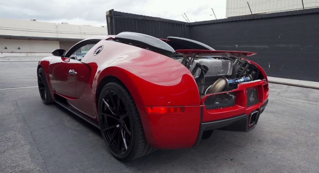 World S Loudest Bugatti Veyron With Aftermarket Titanium Exhaust