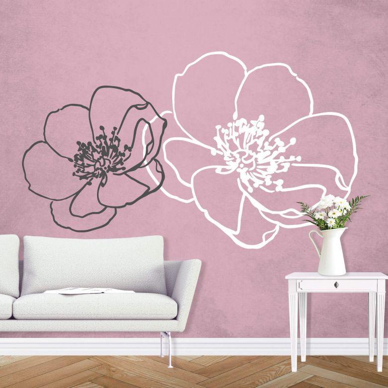 Adesivi Fiori Pareti.Adesivo Murale Fiore 02 Wall Art It Nel 2019 Adesivi