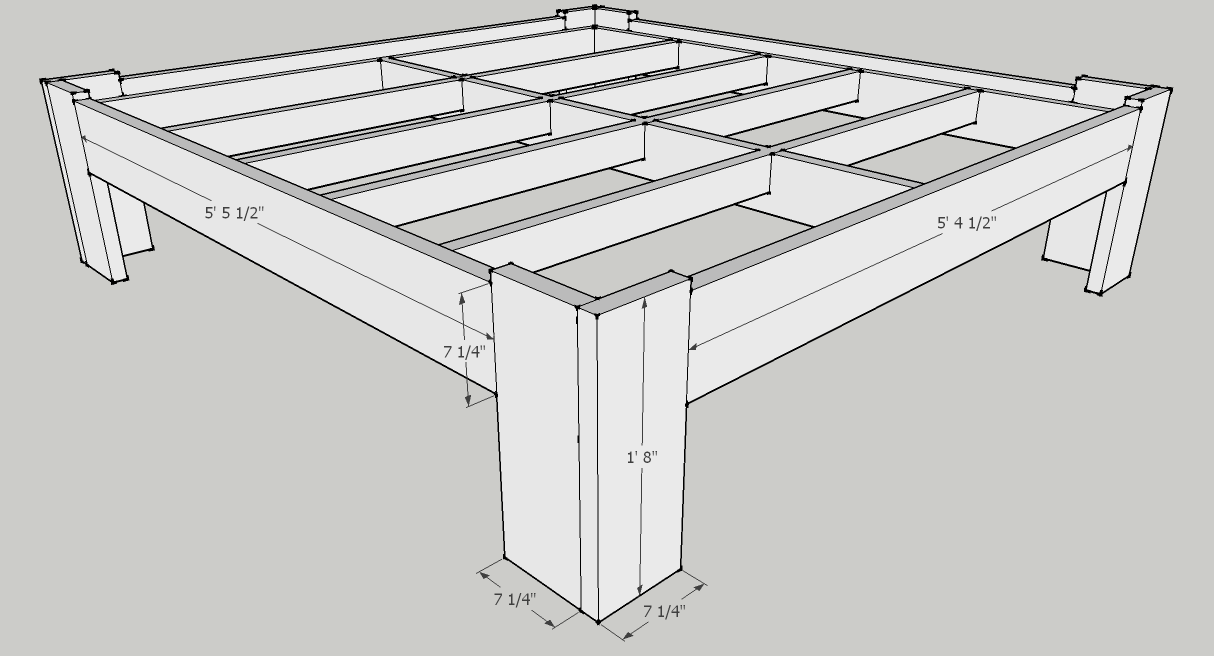 Bed Frame 2 Exterior Dimensions Bed Frame Plans Diy Bed Frame Plans Diy Bed