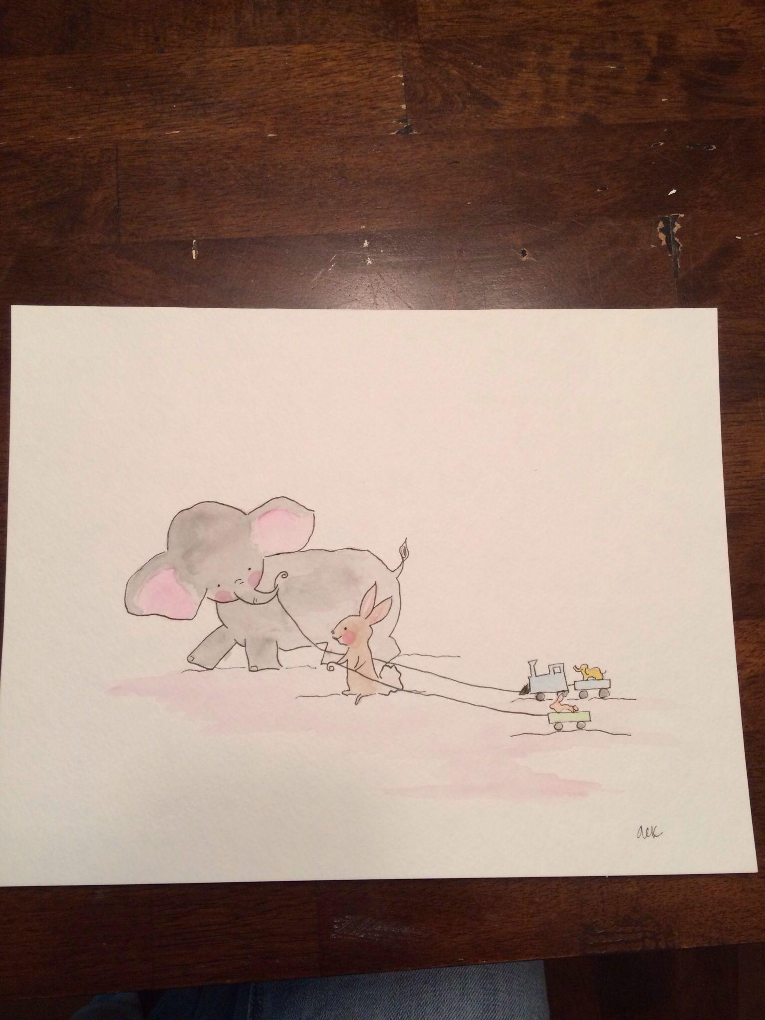 Art by @Ashley Walters King for the nursery!!  #nursery #art #baby