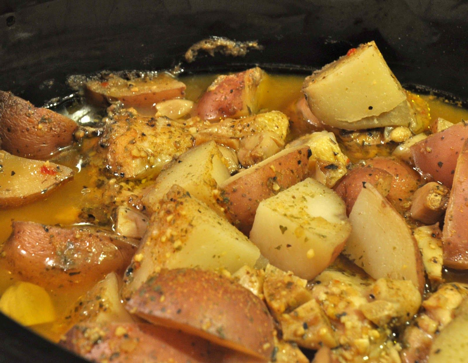 Meat in pots with potatoes in the oven 71