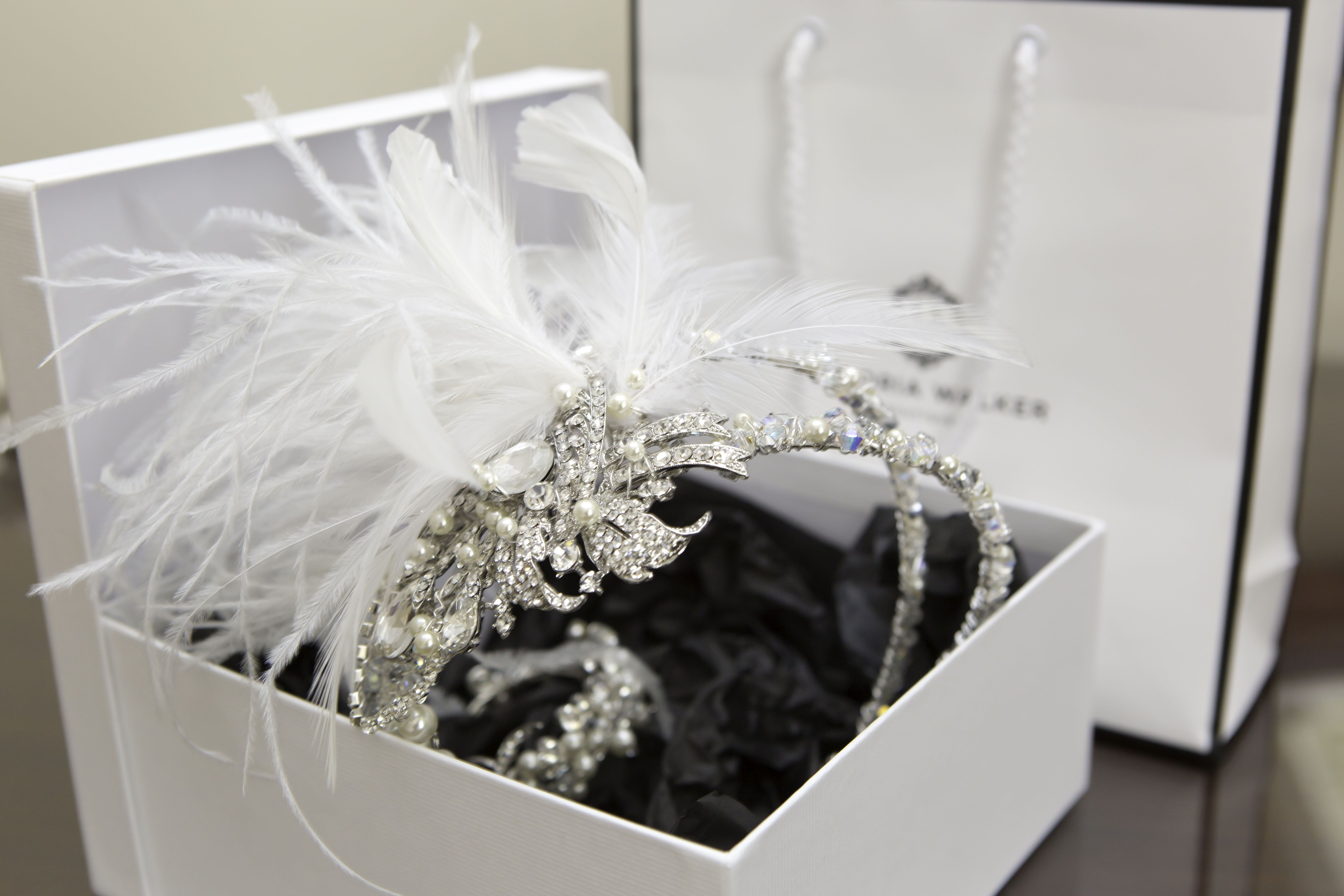 Bespoke Bridal hair accessories designed and created by Victoria Walker Boutique