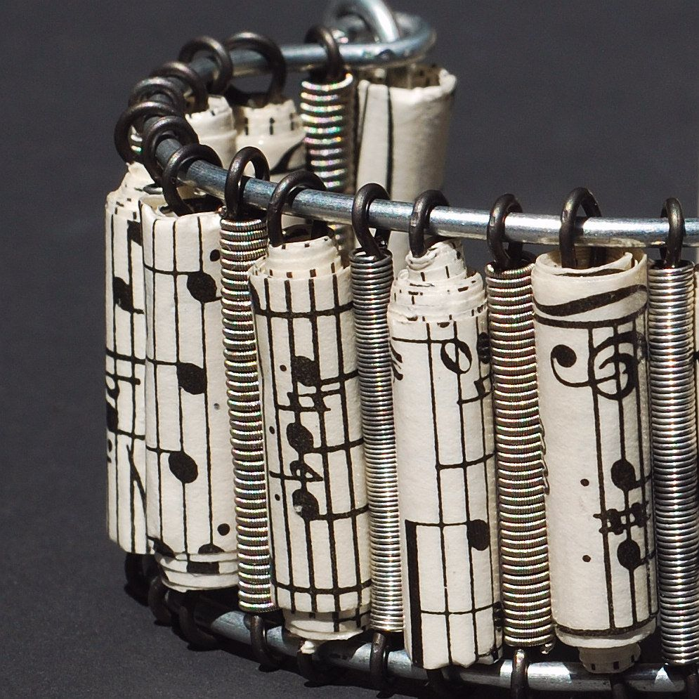Guitar String Sheet Music Cuff by Tanith-Rohe on DeviantArt