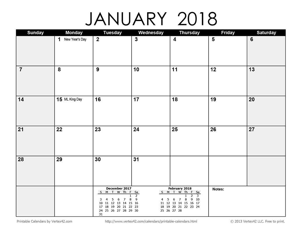 Printable Monthly  Calendar  Christmas Crafts