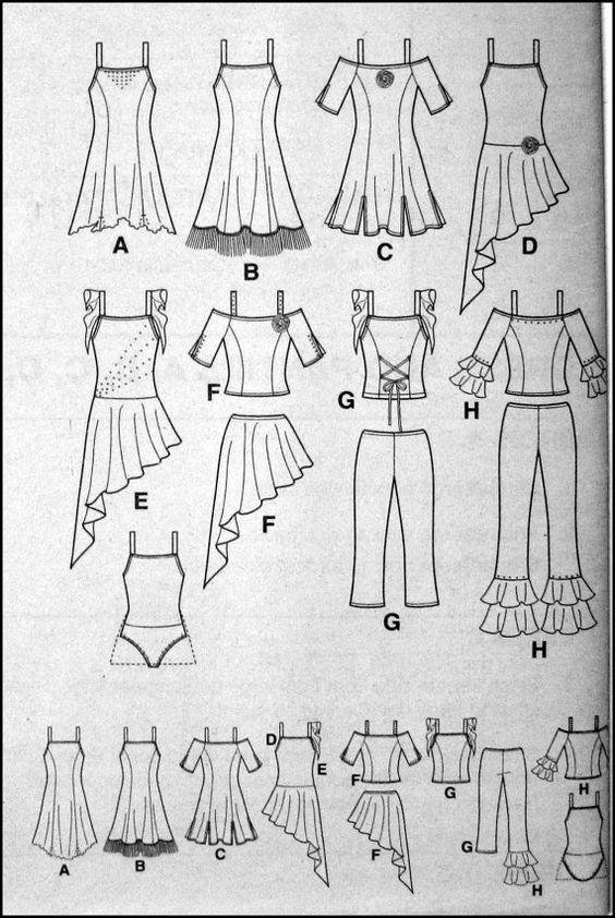 Girls Dance Costume Sewing Pattern -JAZZ- BALLET -LYRICAL -Eight ...