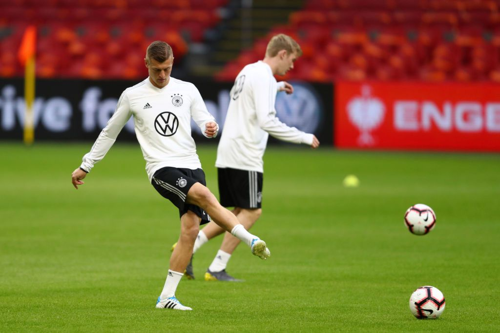 Amsterdam Netherlands March 23 Toni Kroos Of Germany In Action