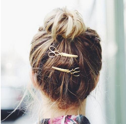 Cool Simple Head Jewelry Hair Pin Gold Scissors Shears Clip For Hair Tiara Barrettes Accessories Headdress For Girl Women