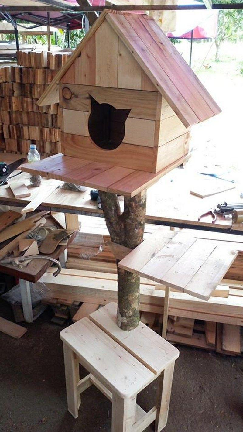 Pallet bird house idea also diy furniture houses wooden rh pinterest