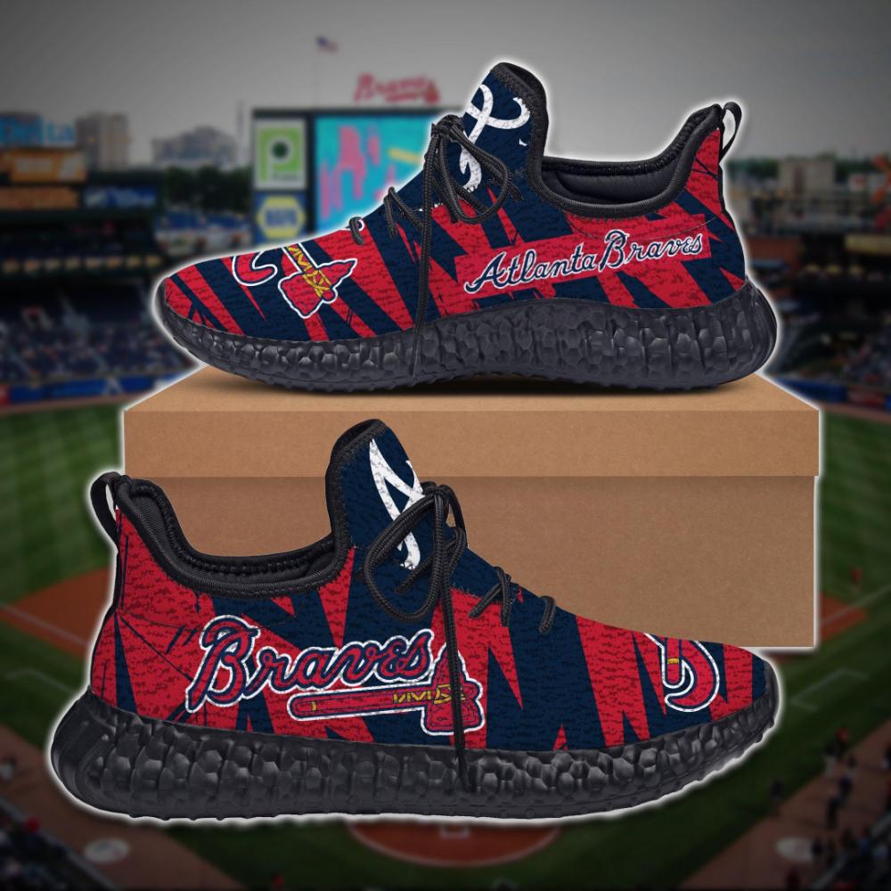 Atlanta Braves Limited Edition Black Yeezy Sneaker Ver 2 Yeezy Sneakers Sneakers Boots