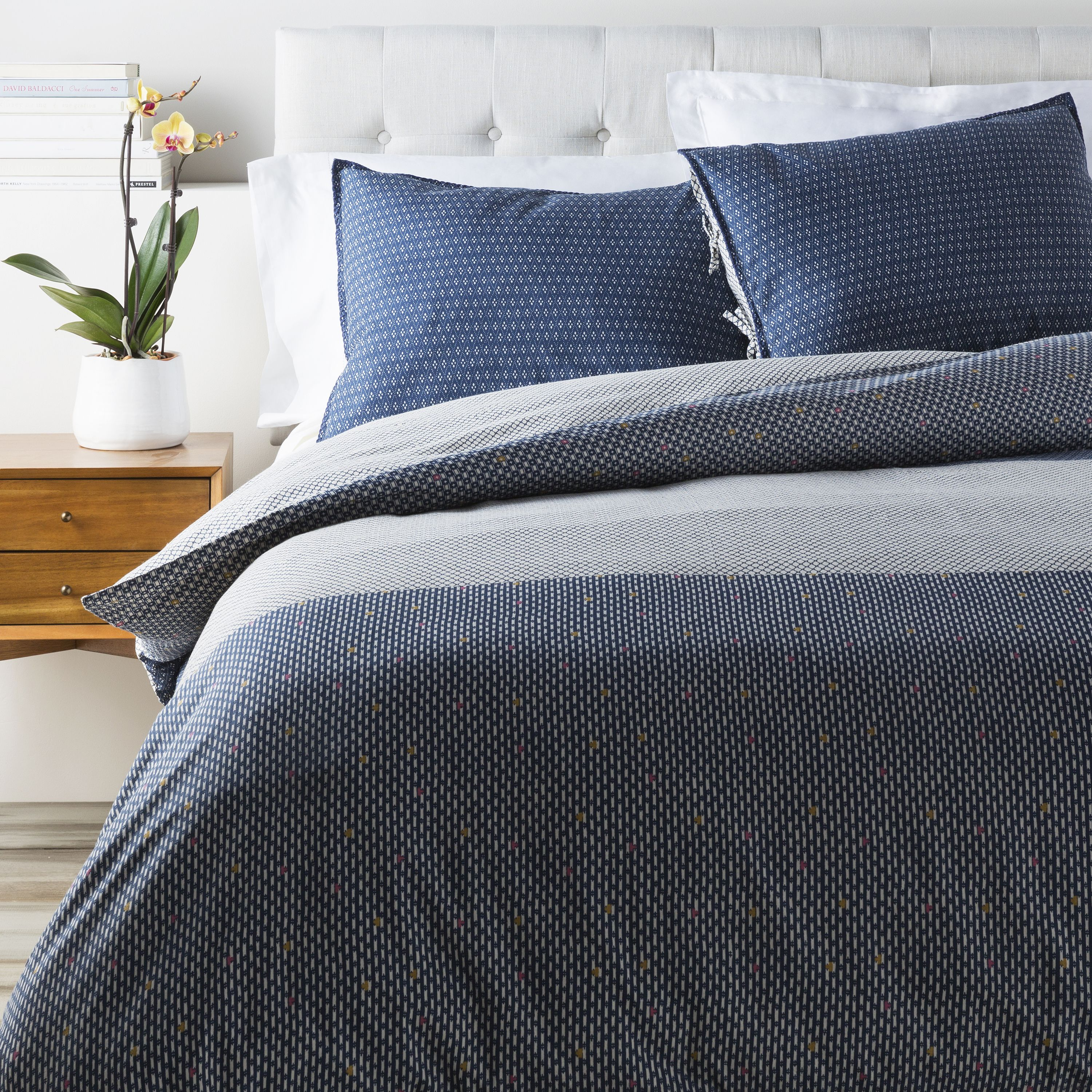 Masculine Or Feminine Our Markus Bedding Has A Textured And Color