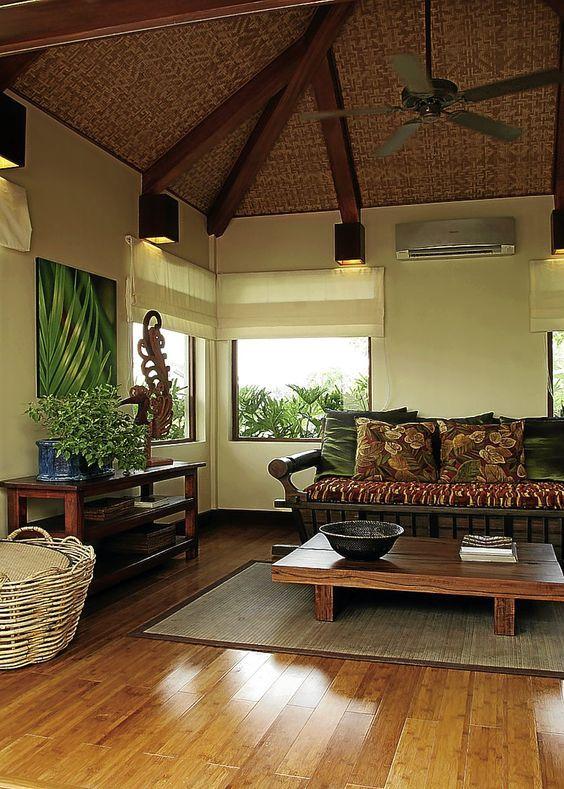 Modern Filipino Nipa Hut House Interior