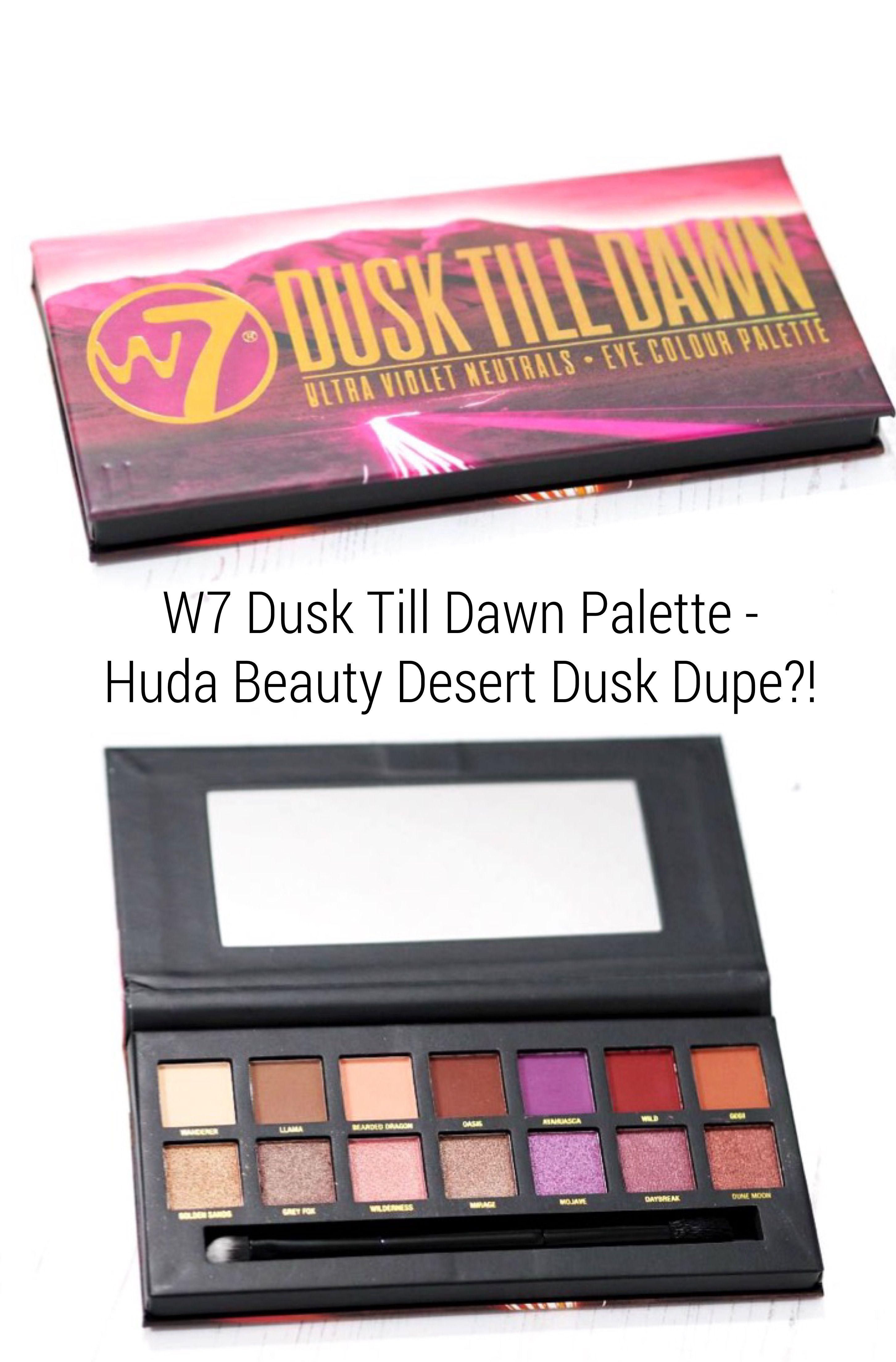 W7 Cosmetics EyeShadow Palette Dusk Till Dawn Shimmery