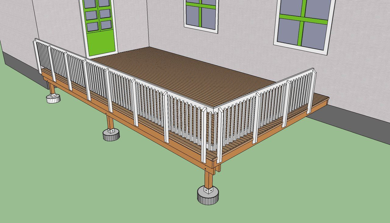 How To Build A Deck Step By Step Howtospecialist How To Build Step By Step Diy Plans Building A Deck Deck Steps Diy Deck