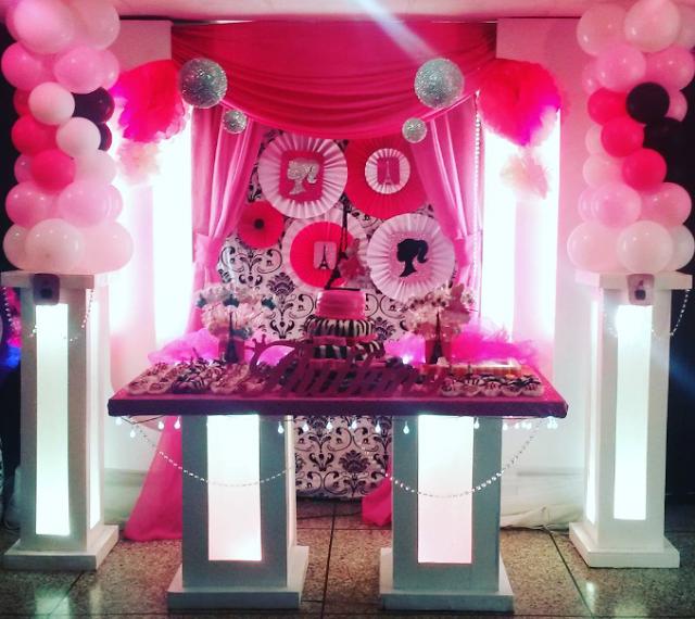 101 fiestas: Fiesta temática de Barbie moda en París | cumple mami ...