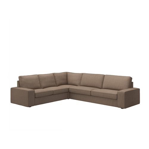 Kivik Sectional 5 Seat Corner Isunda Brown Ikea