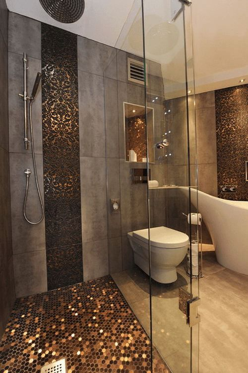 very gold mosaic bathroom accessories. Bathroom designs My dream house  Assembly required 25 photos House Interiors