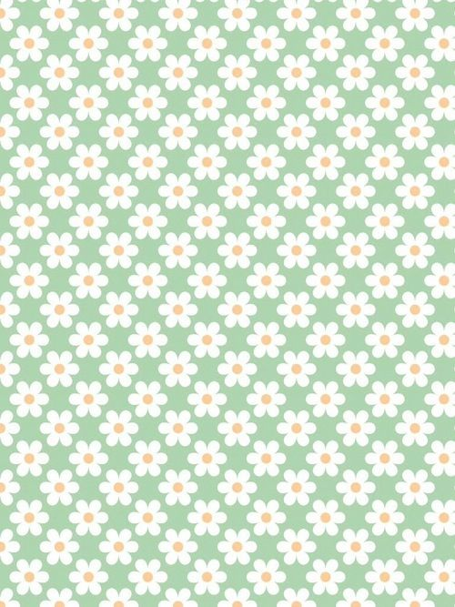 Flower Floral Mint Green Background Wallpaper Cute Patterns Wallpaper Pattern Wallpaper Phone Wallpaper