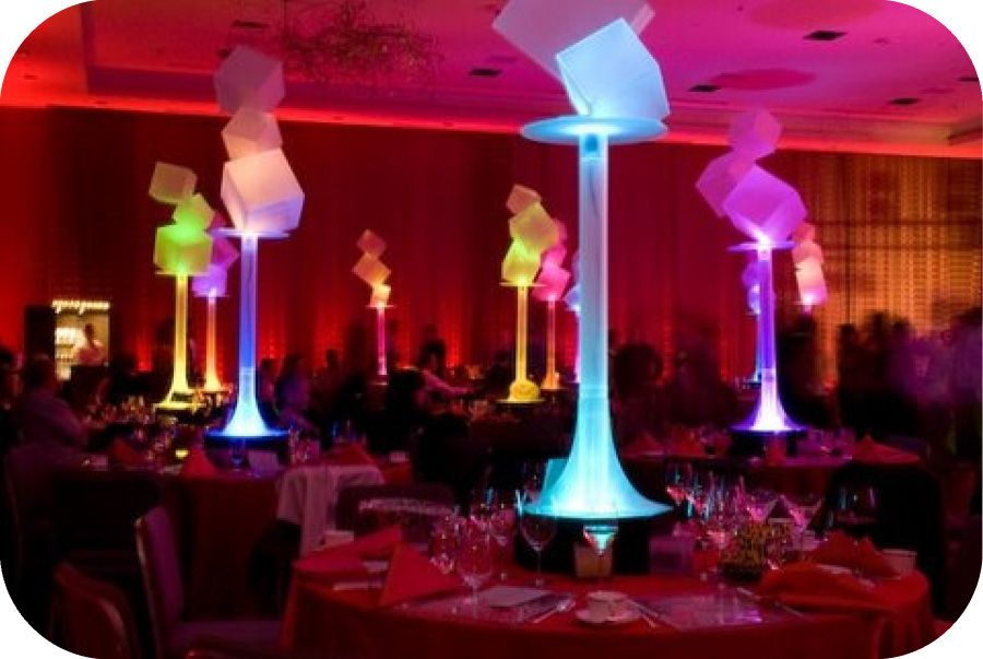 Paper lantern with led centerpiece
