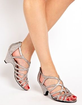 248987a129c2 Image 3 of New Look Sun Low Silver Wedge Sandals