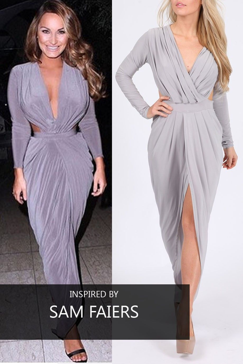 06beb6376b Go glam like Sam Faiers in this Missi London Wholesale Goddess Maxi Dress!  Style number: MC1893