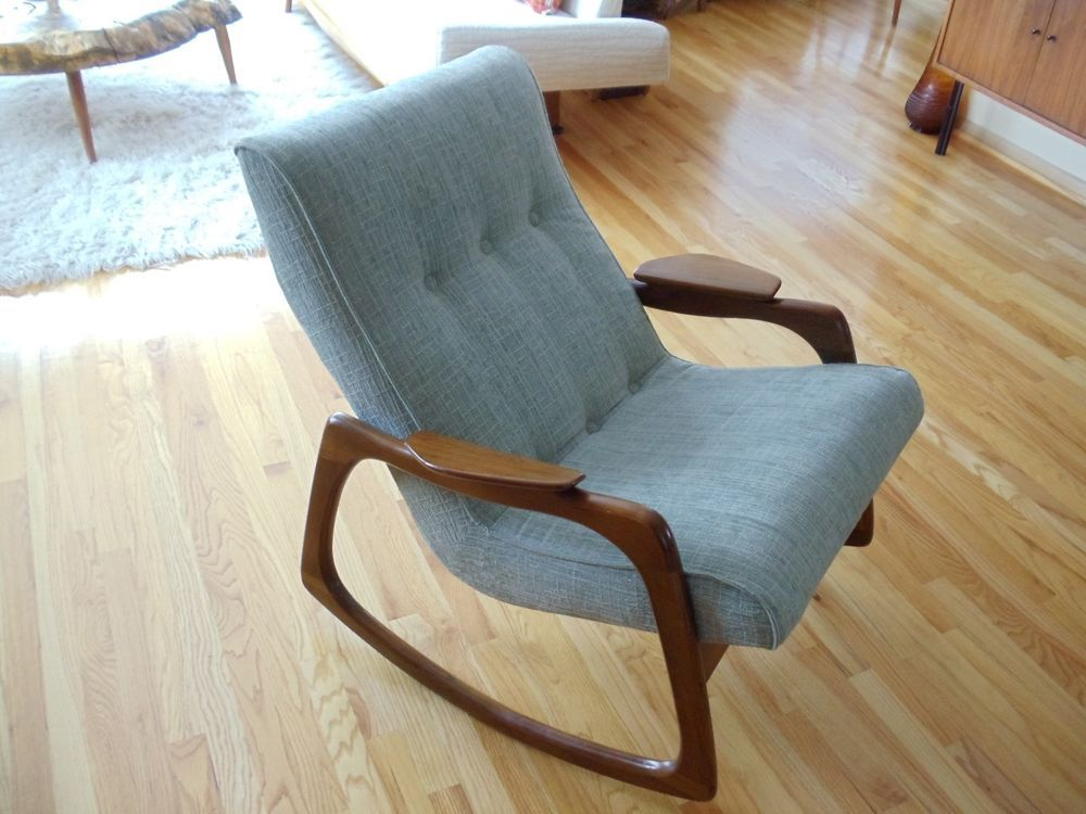 Mid Century Danish Adrian Pearsall Rocker Rocking Chair Pristine Juhl Kagan  Era Ebay: US $1,399.00