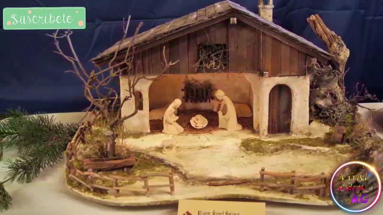 100 Hermosas Ideas De Pesebres Para Esta Navidad Decoracion Navideña 201 Establo De Navidad Pesebre Navideño Pesebre De Navidad