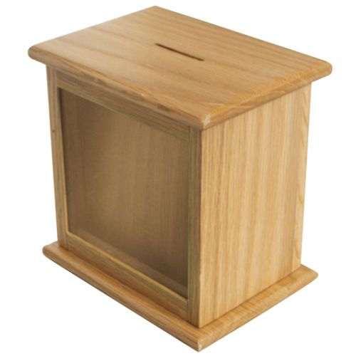 Nice Wooden Suggestion Box Front Window Charity Box Donation Box 03 Alcancias Manualidades Madera