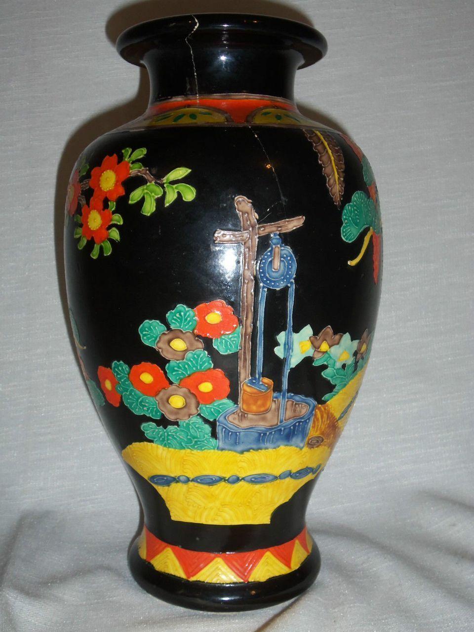 Large japanese art deco kinkozan polychrome vase makers mark large japanese art deco kinkozan polychrome vase makers mark reviewsmspy