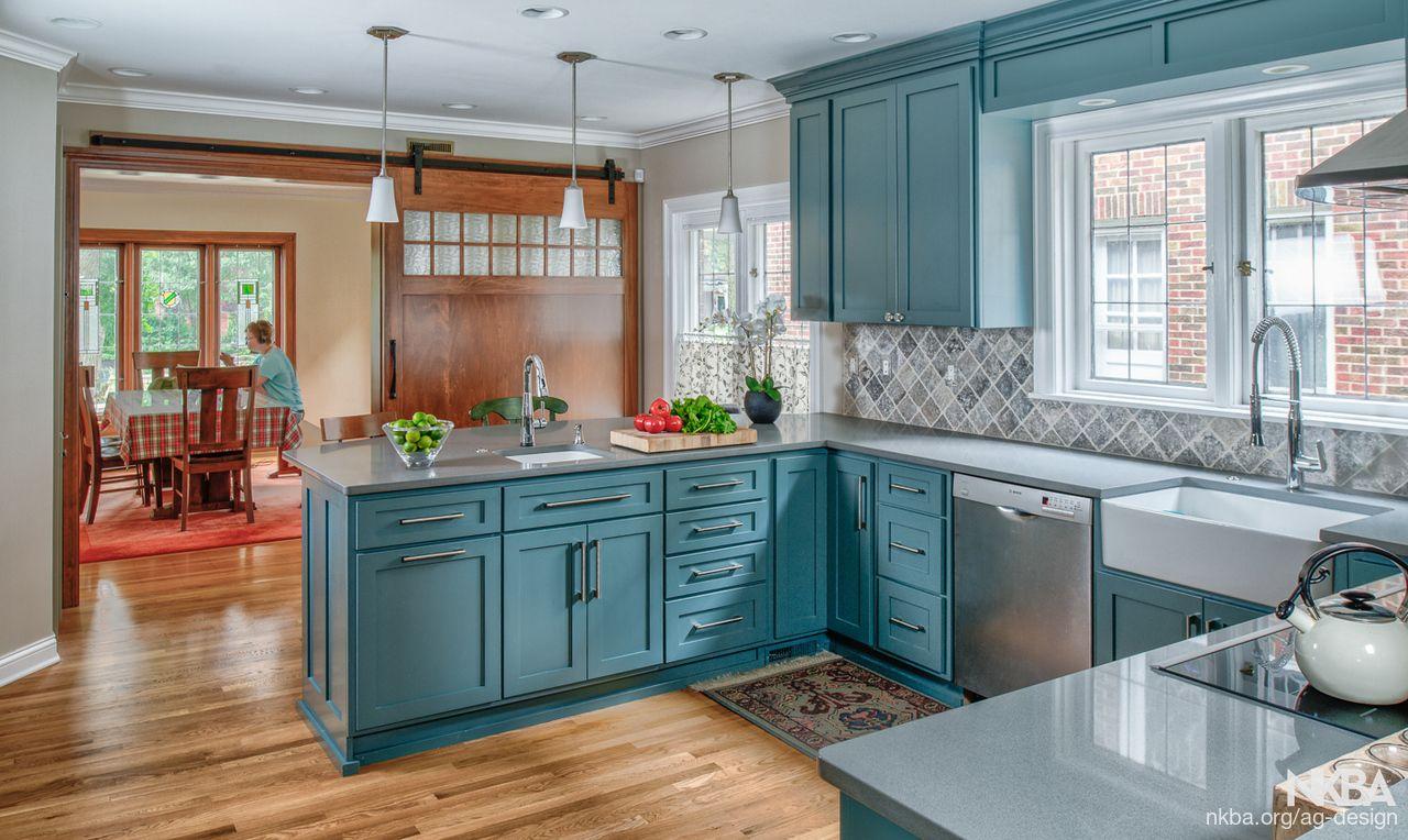 Blue/Green Kitchen 2 - Farmhouse - Kitchen | New Kitchen | Pinterest ...