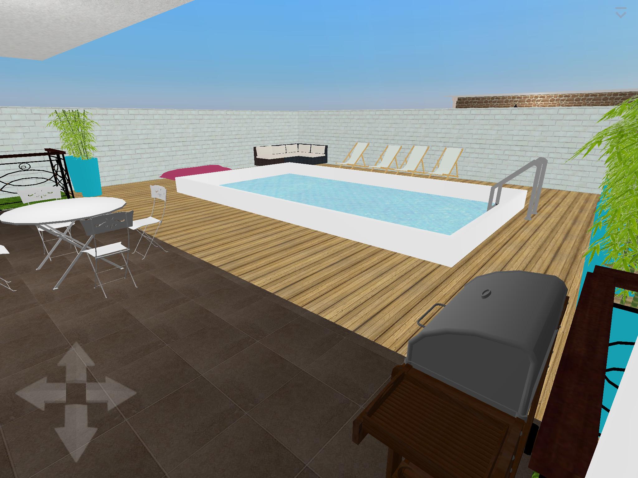 Architecte Jardin 3D Gratuit plan 3d : piscine+ terrasse logiciel : home design 3d gold