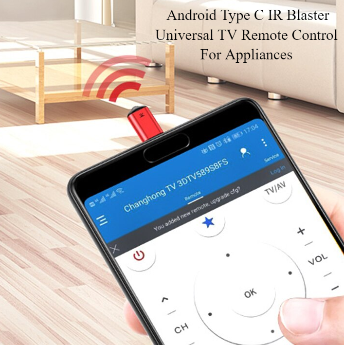 Android Type C IR Blaster Universal TV Remote Control For