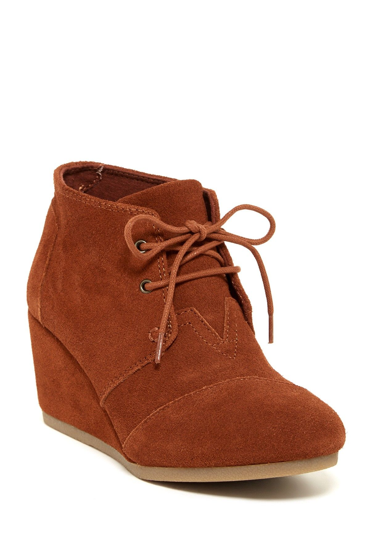 bc4f2777b7a Desert Chukka Wedge Bootie by TOMS on  nordstrom rack Wedge Bootie