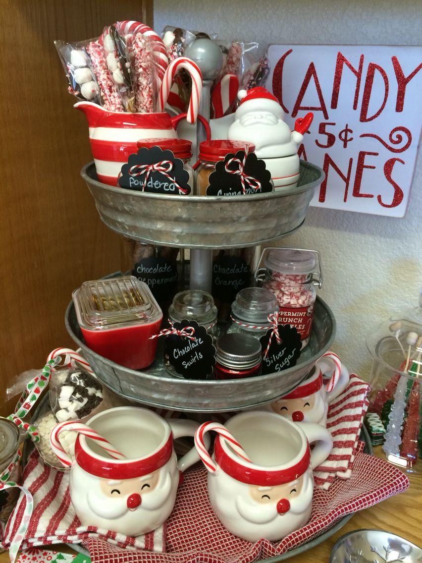 Hot Cocoa Bar For Christmas Pottery Barn Galvanized Tier