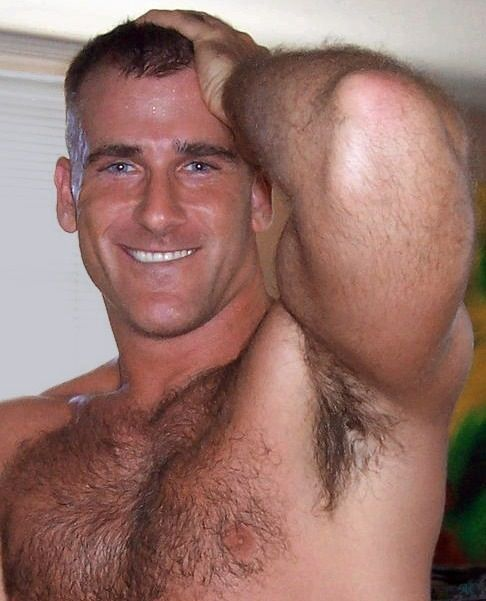 Bushy male armpits