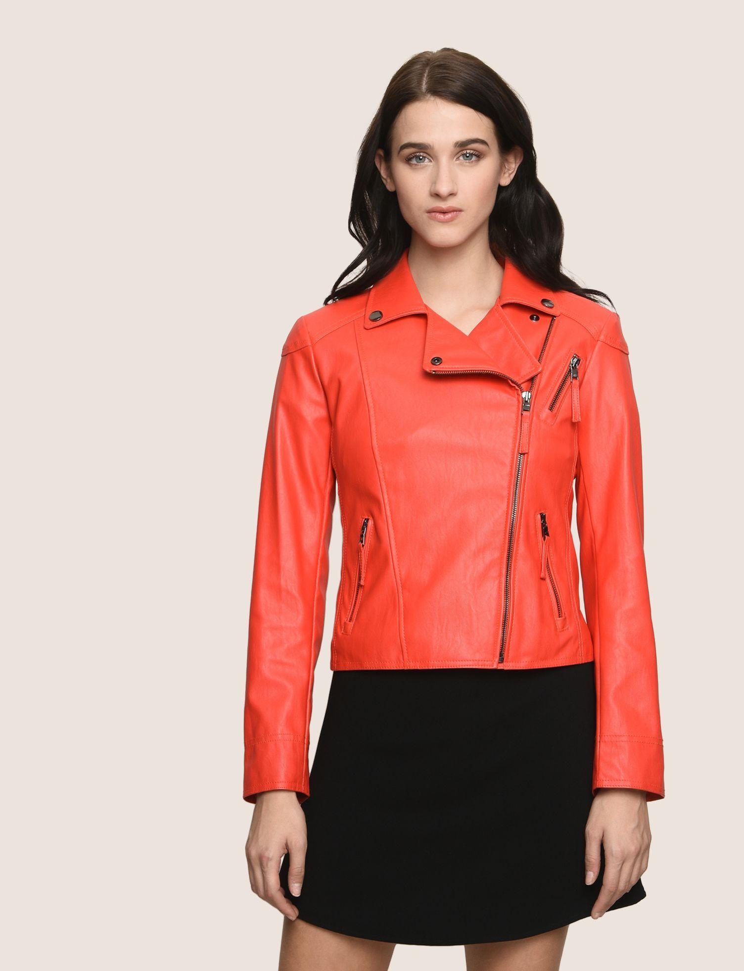 Armani Exchange Leather Biker Jacket