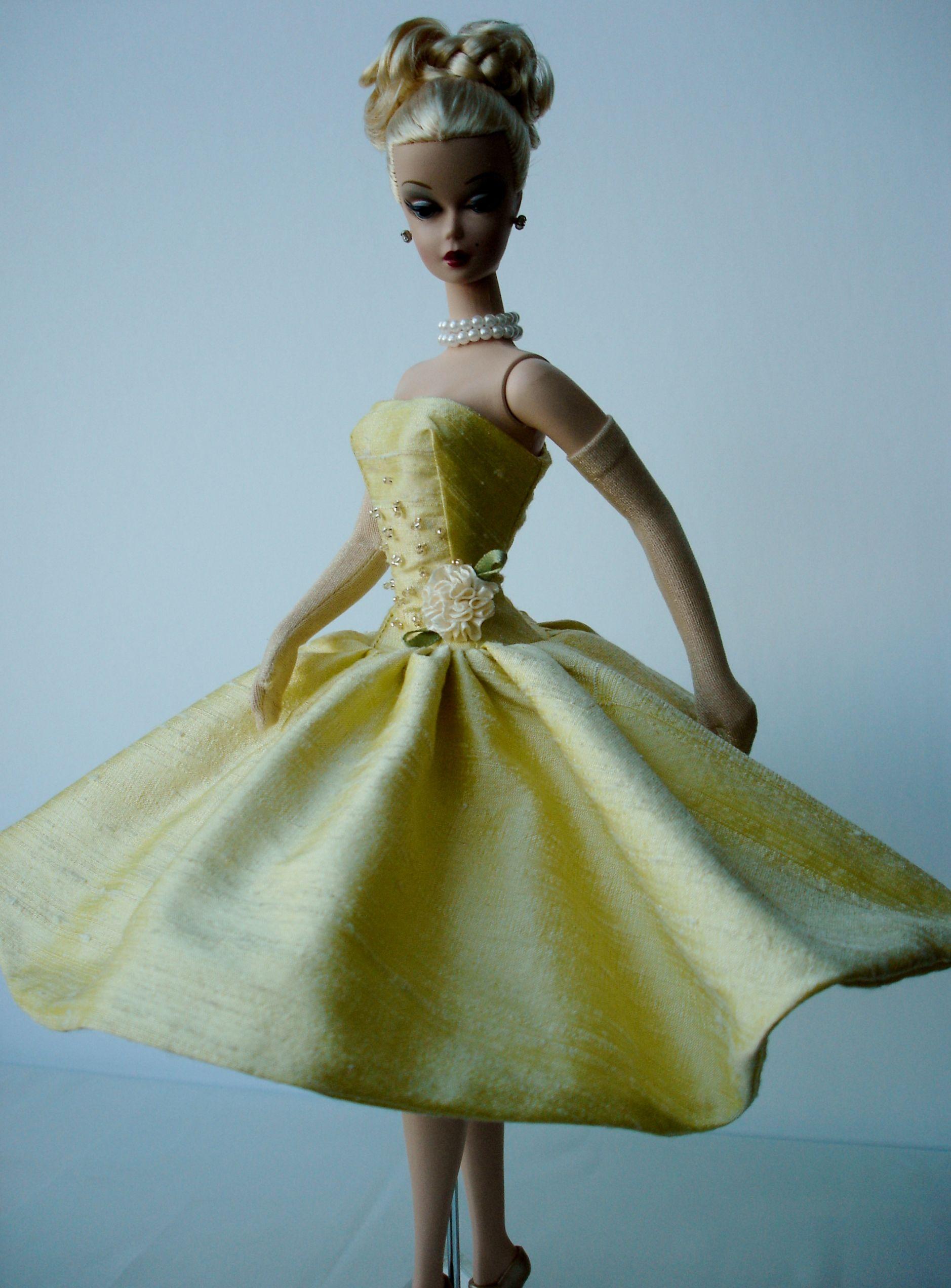 Silkstone Barbie yellow silky | dolls | Pinterest | Muñecas