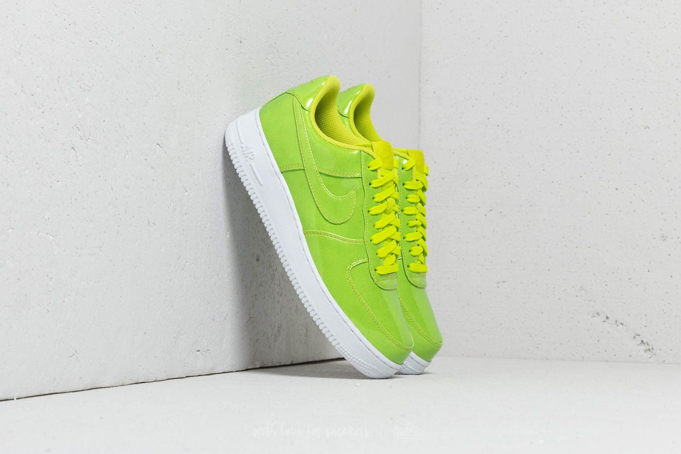 sale retailer dface f6f14 Nike Air Force 1 '07 LV8 UV | Cyber/ Cyber-White | $137 | #green #neon  #sneakers #nike #airforce #colorful