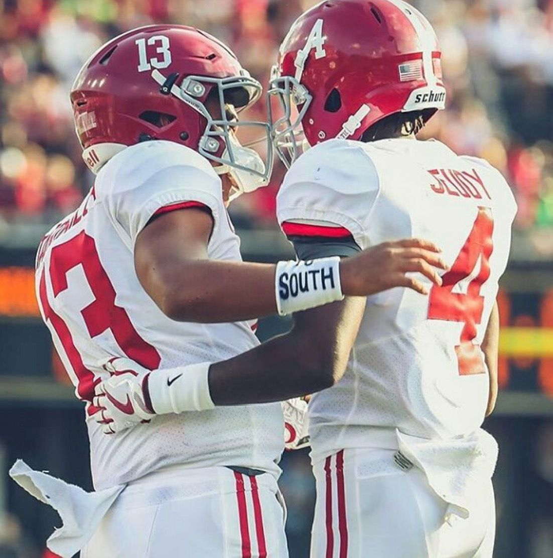 The Freshmen Connection Tua Tagovailoa To Jerry Jeudy For The Td Alabama Rolltide Bama Builtbybama R Alabama Crimson Tide Bama Football Alabama Football