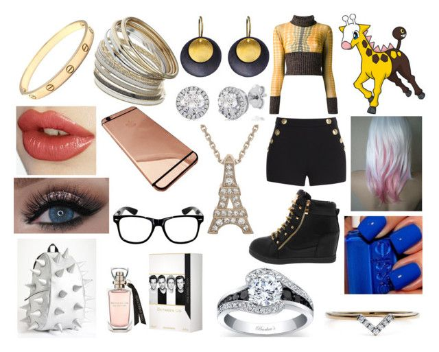 """#203 Girafarig Theme"" by kitty-styles-horan-biedka ❤ liked on Polyvore featuring beauty, Jean-Paul Gaultier, Boutique Moschino, Hissia, Diamonds Unleashed, Miss Selfridge, Cartier and MadPax"