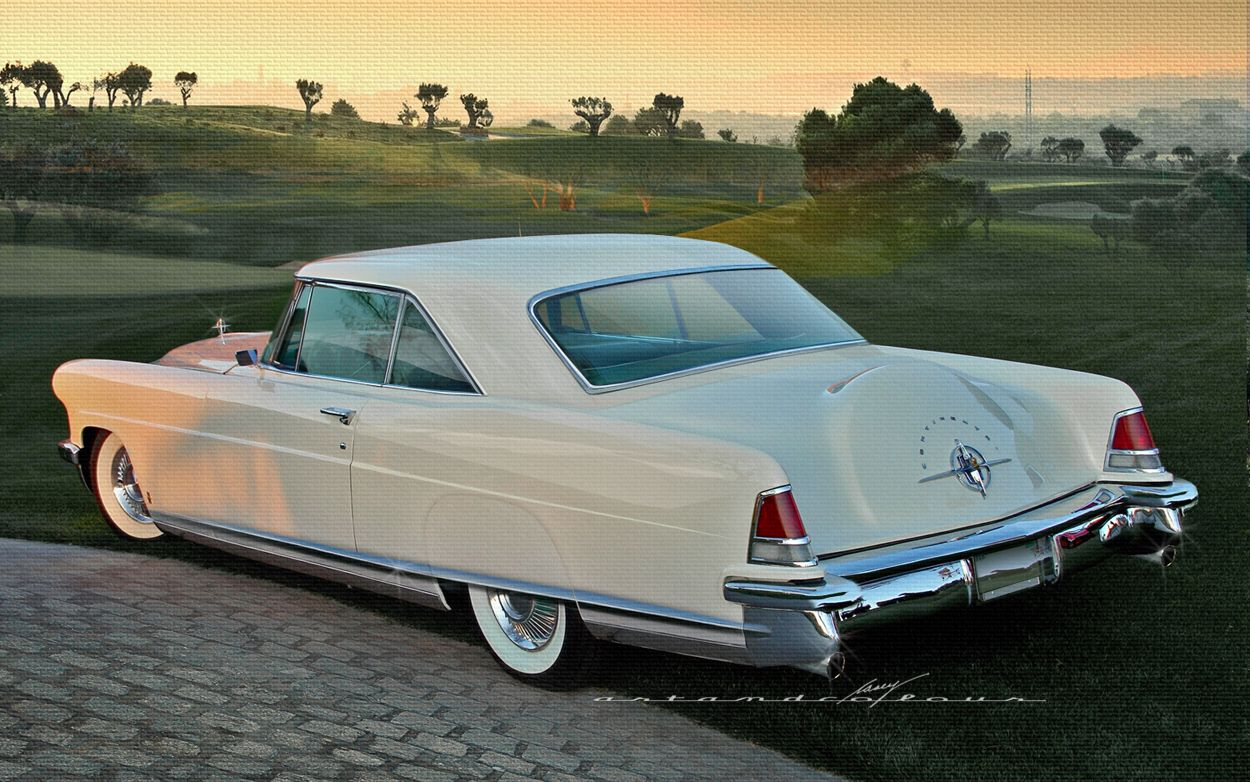 Ford lincoln mercury 1956 continental mkii beige in color built by the continental car division of fmc