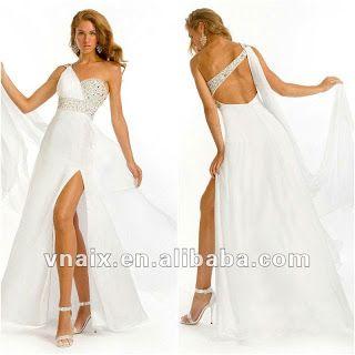 964dc4175b Vestidos para Ti  Elegante y Hermoso Vestido Blanco Largo para Fiesta