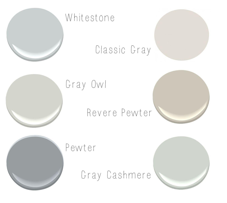 Whitestone benjamin moore 2134 60 gray owl benjamin for Benjamin moore pewter 2121 30