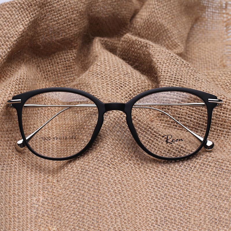 TR 90 Round Eye Glasses Vintage Prescription Glasses Frame women and ...