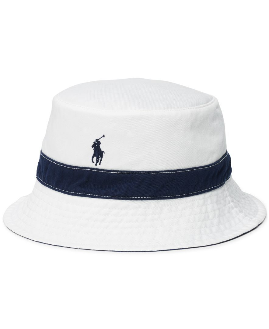 f3136707 Polo Ralph Lauren Men's Polka-Dot-Print Reversible Bucket Hat | hats ...