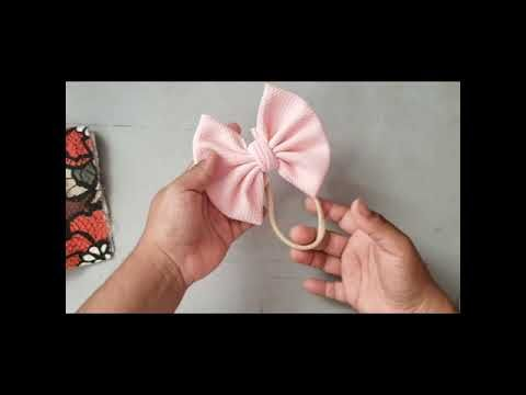 Tutorial de un Bow wrap/ how to make a Bow wrap Using Bullet Fabric