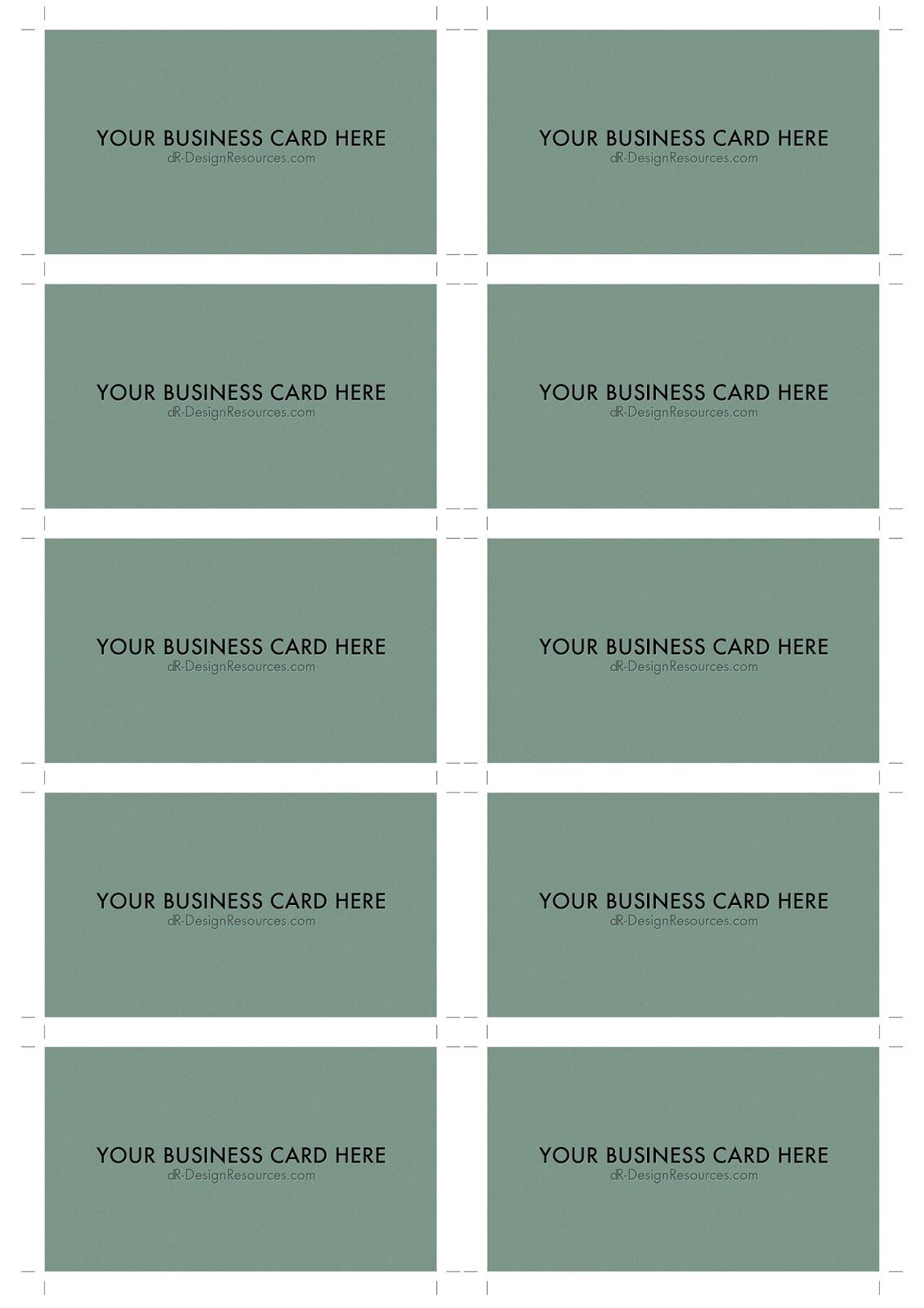 A4 business card template psd 10 per sheet business